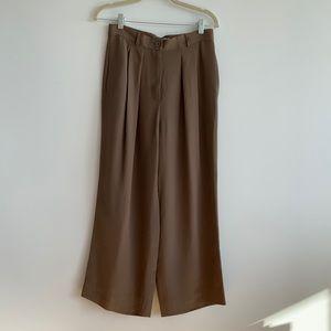 Vintage Giorgio Armani Silk Wide Leg Pants